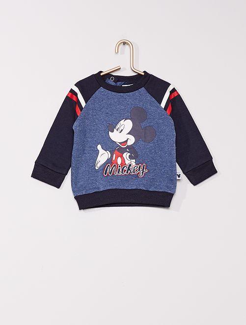 Sweat en molleton 'Mickey'                                         bleu