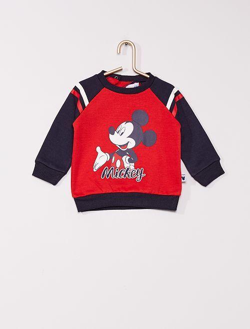 Sweat en molleton 'Mickey'                                         rouge