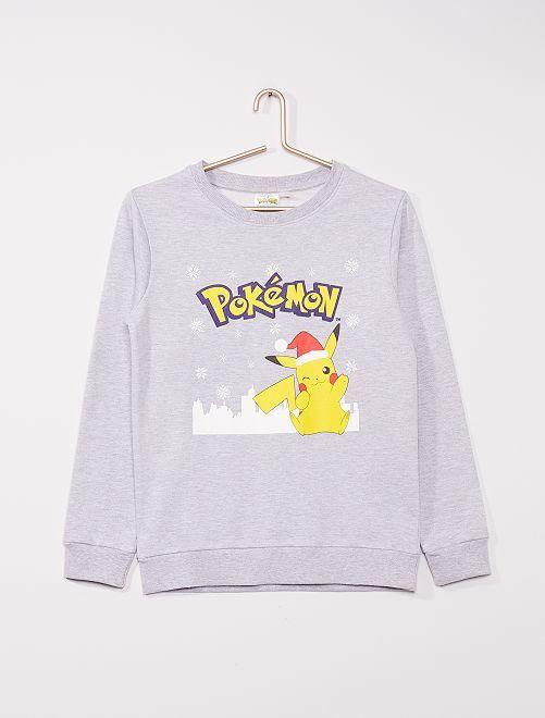 Sweat en molleton 'Pokemon'                             gris