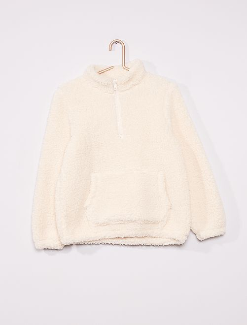 Sweat en sherpa                                         blanc