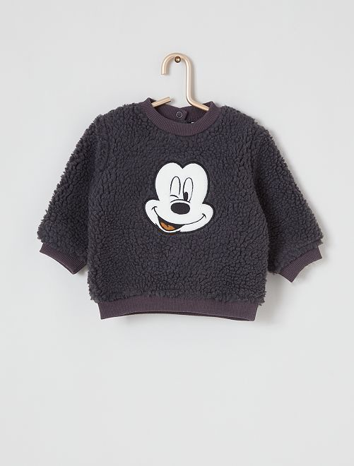 Sweat en sherpa 'Disney'                                         noir