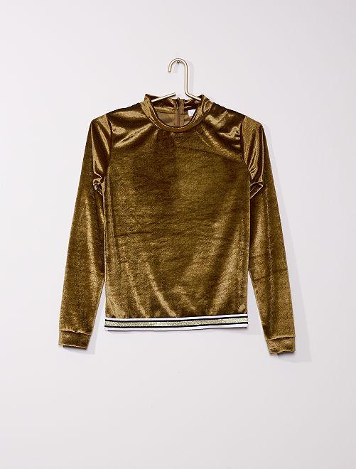 Sweat en velours                             doré