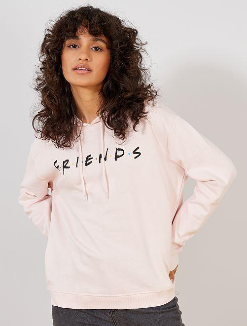 Sweat 'Friends'                             rose Femme