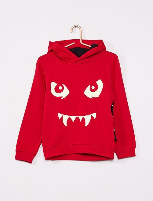 Sweat 'Halloween'                                                                 rouge
