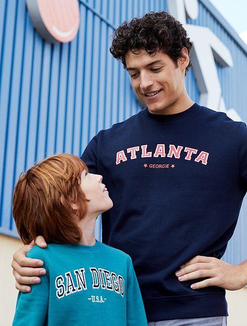 Sweat imprimé 'Atlanta'                             bleu marine