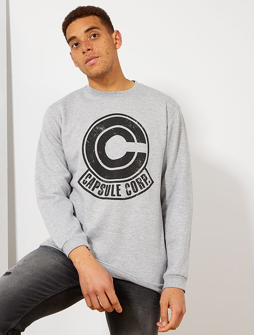 Sweat imprimé 'Dragon Ball Z'                             gris clair chiné Homme