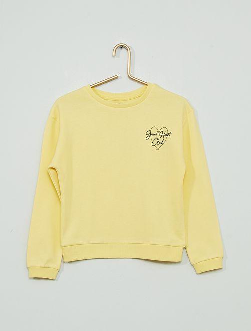 Sweat imprimé éco-conçu                                                                 jaune