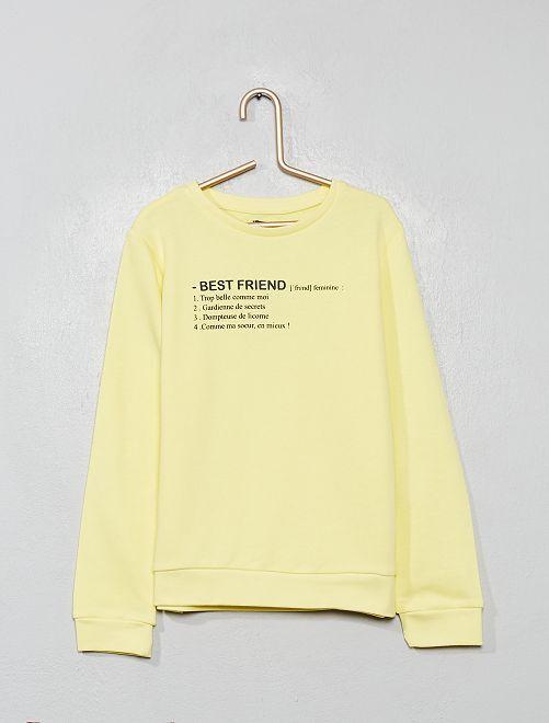 Sweat imprimé                                                                             jaune