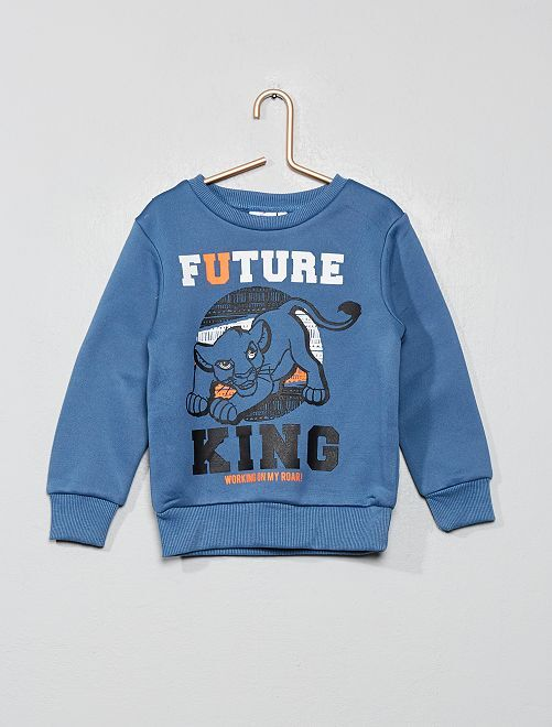 Sweat imprimé 'Le Roi Lion'                                         bleu