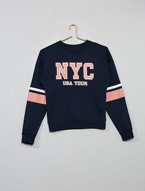 Sweat imprimé 'New-York City'                                                                                                                                         bleu marine
