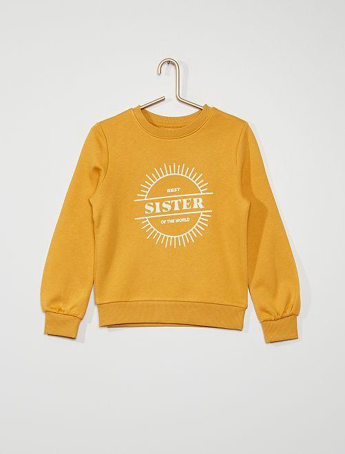 Sweat imprimé 'soleil'                                                                             jaune moutarde