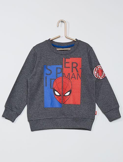 Sweat imprimé 'Spider-Man'                             gris