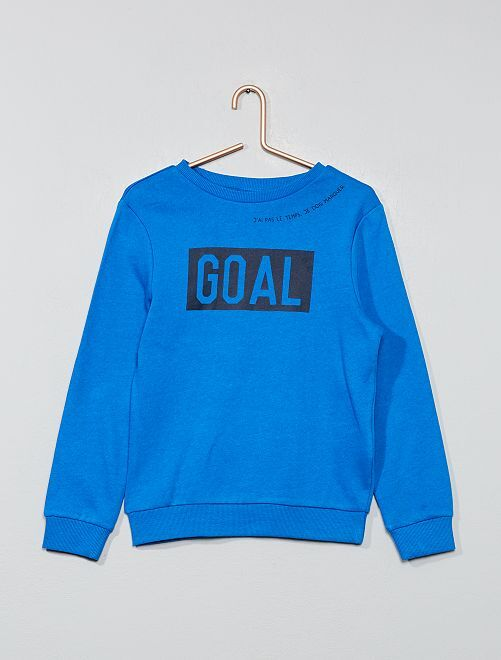 Sweat imprimé sport                                                                                         bleu goal