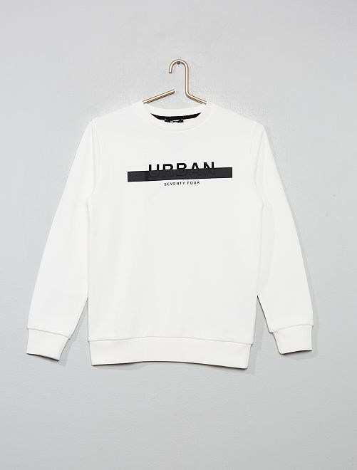 Sweat imprimé 'urban'                             blanc