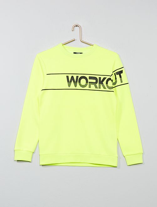Sweat imprimé 'Workout'                                         jaune