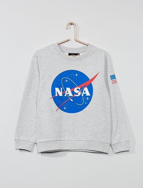 Sweat léger 'NASA'                             gris Garçon
