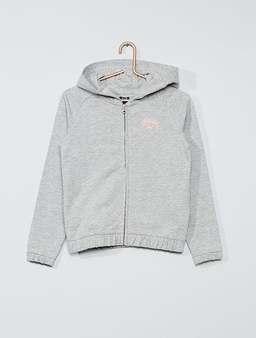 Sweat léger zippé                             gris