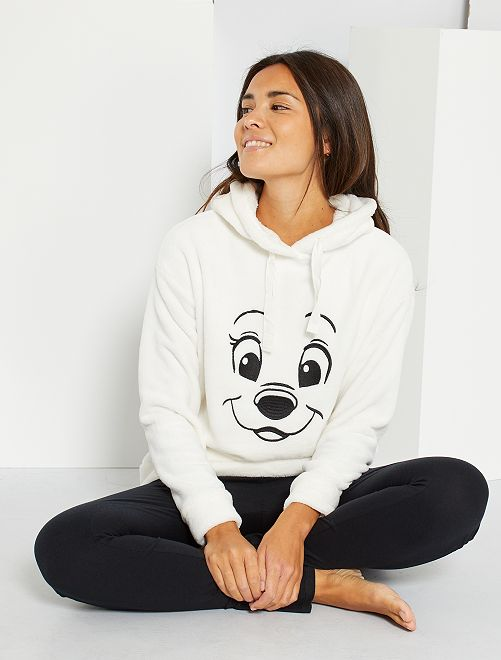 Sweat Les 101 Dalmatiens 'Disney'                                                     blanc