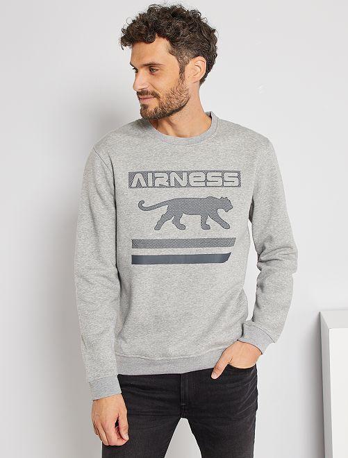 Sweat logo 'Airness'                             gris chiné