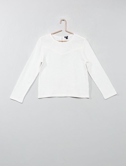 Sweat maille fantaisie                                         blanc