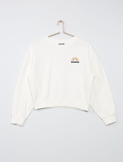 Sweat manches bouffantes                                         blanc