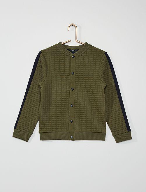 Sweat matelassé bicolore                                                                 vert foncé