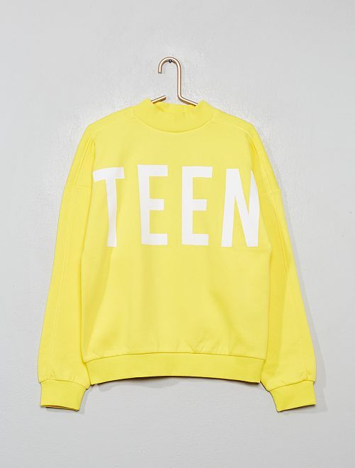 Sweat message                     jaune