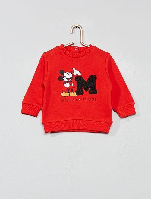 Sweat 'Mickey' avec bouclette                             rouge Bébé garçon