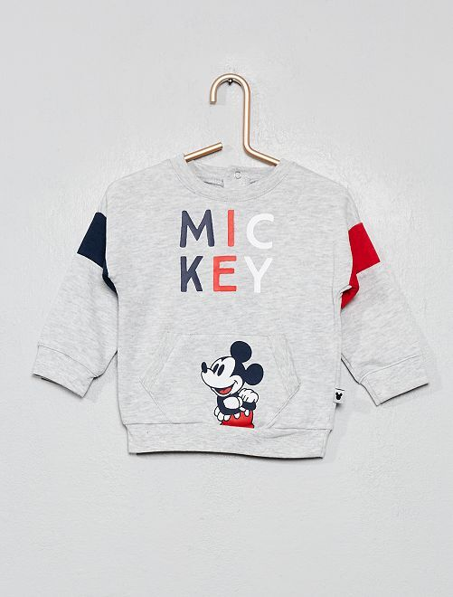 Sweat 'Mickey'                             gris chiné