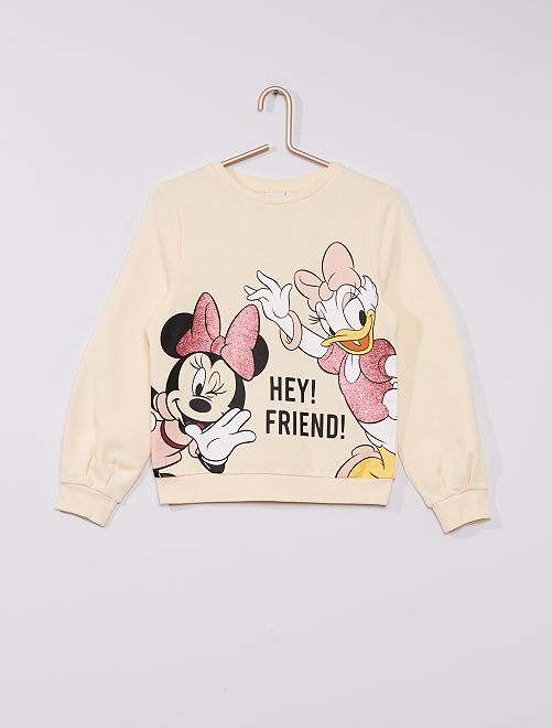 Sweat 'Minnie et Daisy' de 'Disney'                                         blanc