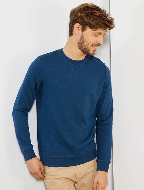 Sweat molleton léger                                                                                                                                                     bleu