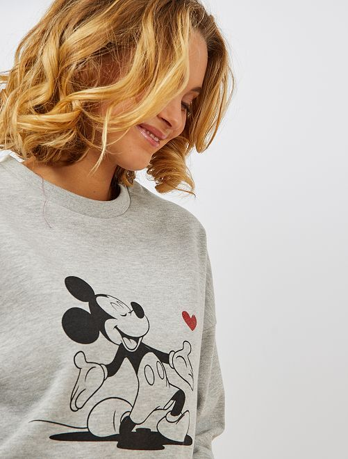 Sweat molleton 'Mickey'                                                                 gris