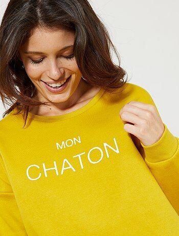 Sweat molletonné à message - Kiabi