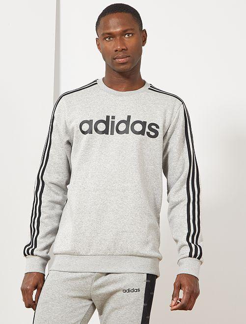 Sweat molletonné 'Adidas'                             gris clair chiné Homme
