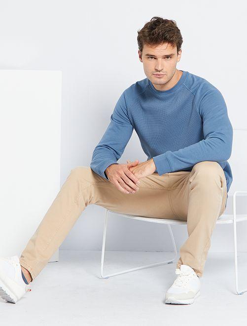 Sweat molletonné éco-conçu +1m90                                         bleu gris