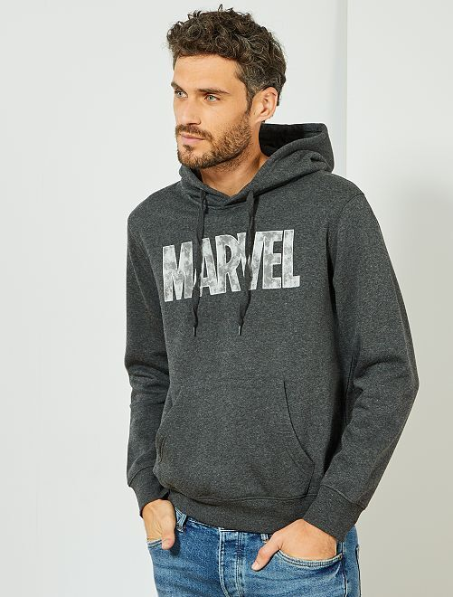 Sweat molletonné 'Marvel'                                         gris