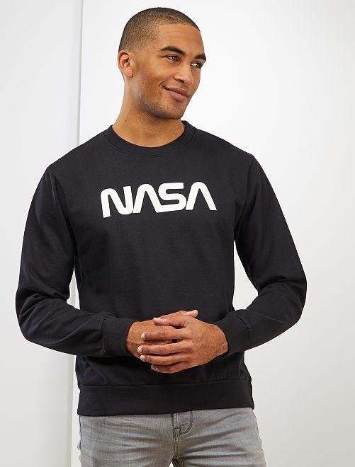 Sweat molletonné 'NASA'                             noir