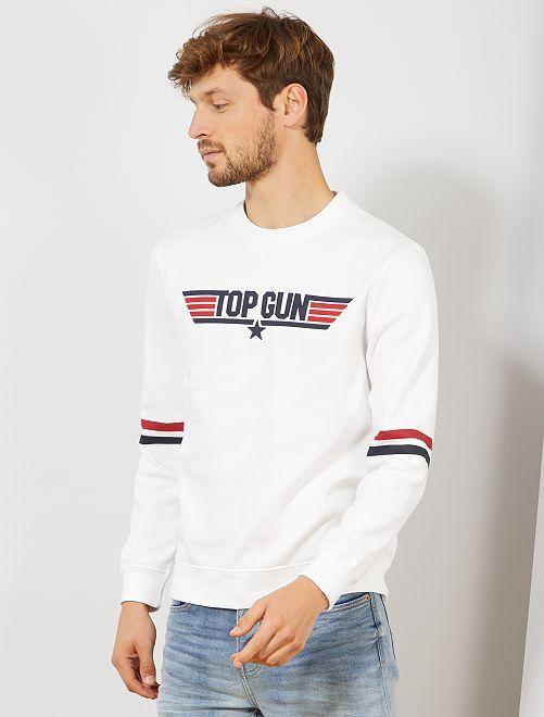 Sweat molletonné 'Top Gun'                                         blanc