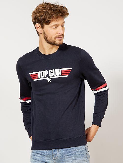 Sweat molletonné 'Top Gun'                                         bleu marine