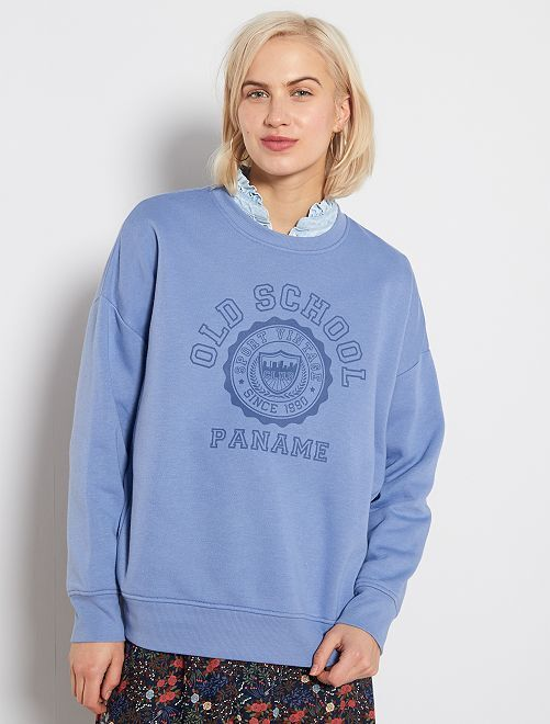 Sweat oversize 'Campus'                                                     bleu