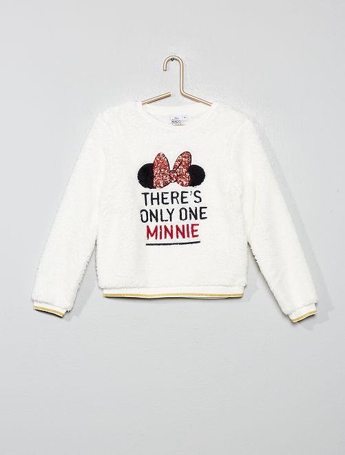 Sweat peluche 'Minnie'                                         écru/minnie Fille