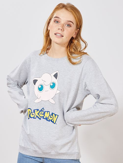 Sweat 'Pokémon'                             gris chiné
