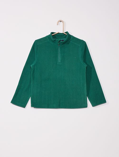 Sweat polaire col montant                     vert