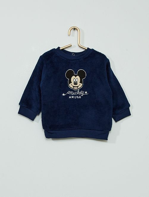 Sweat polaire 'Mickey'                                         bleu marine
