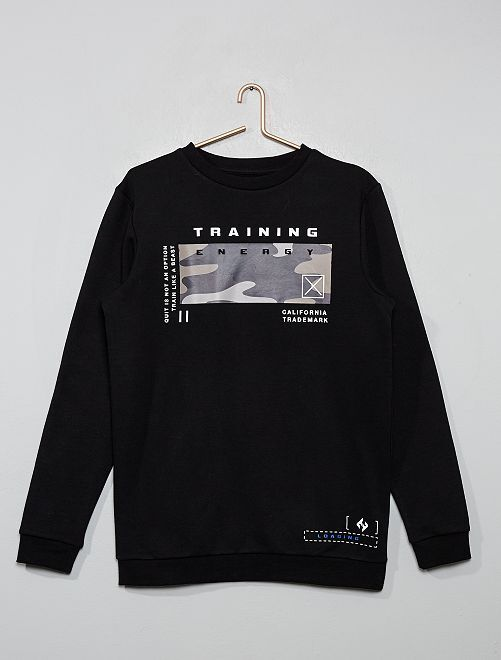 Sweat print 'training'                                         noir