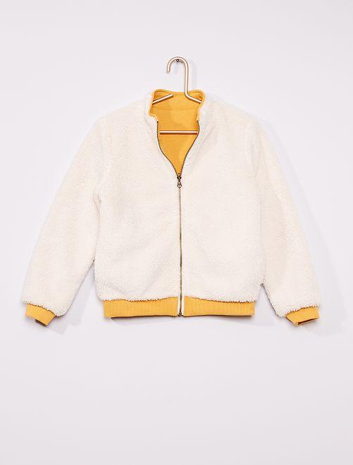 Sweat réversible                                         blanc/jaune