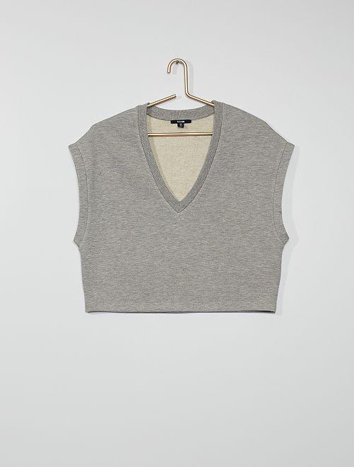 Sweat sans manches                                                     gris
