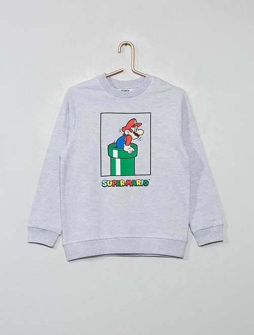 Sweat 'Super Mario'                             gris chiné