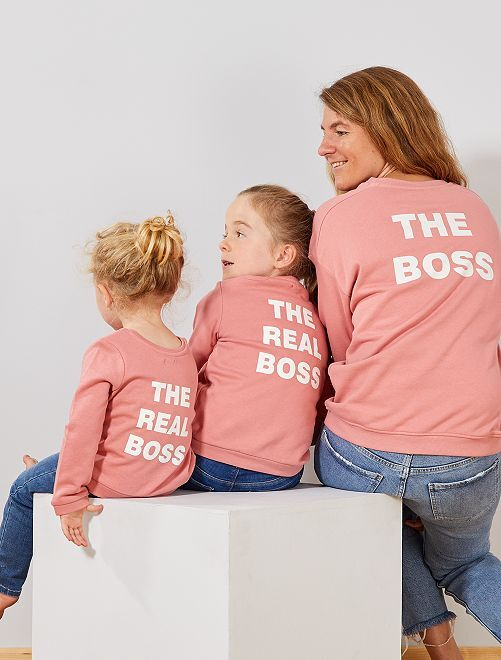 Sweat 'Club de copines'                                             rose boss