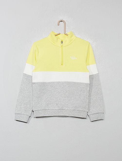Sweat tricolore                                                     jaune